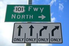 huvudvägtecken ventura Royaltyfria Bilder