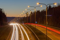 Huvudvägtrafik Arkivbilder