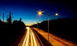 Huvudvägtrafik Royaltyfri Foto