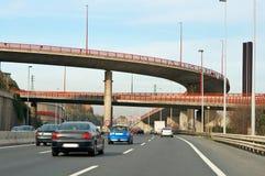 huvudvägtrafik arkivbild