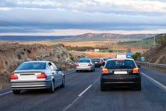 Huvudvägtrafik fotografering för bildbyråer