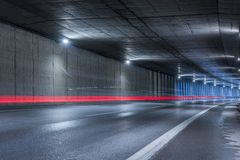 Huvudvägtunnel Arkivfoton