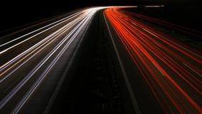 HuvudvägVanhising punkt på natten Arkivfoto