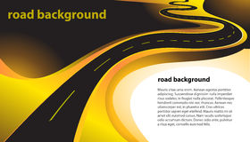 Huvudvägvektorbakgrund Arkivfoton
