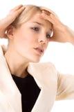 huvudvärk Fotografering för Bildbyråer