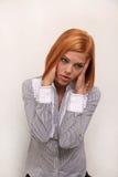 huvudvärkkvinna Royaltyfri Fotografi