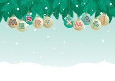 Huw Kerstmis! stock illustratie