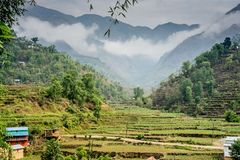 Huwas Valley, Duro village Nepal royalty free stock images
