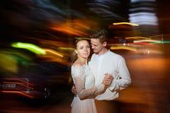 Huwelijk bij nacht Royalty-vrije Stock Foto