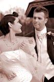 Huwelijk: Bruid en Bruidegom Royalty-vrije Stock Afbeeldingen