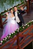 Huwelijk: Bruid en Bruidegom Royalty-vrije Stock Fotografie