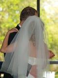 Huwelijk - bruid en bruidegom het dansen Royalty-vrije Stock Fotografie