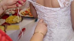 Huwelijk Bruidsmeisjekleding stock footage