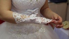 Huwelijk Bruidsmeisjekleding stock videobeelden