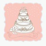 Huwelijk cak Royalty-vrije Stock Fotografie