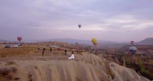 Huwelijk in Cappadocia stock video