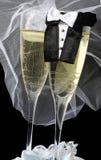 Huwelijk Champagne Royalty-vrije Stock Afbeelding