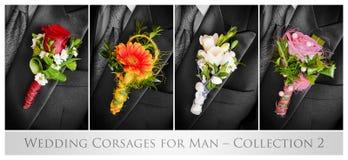 Huwelijk corsaes voor de mens Stock Afbeeldingen