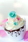 Huwelijk cupcake Stock Foto's