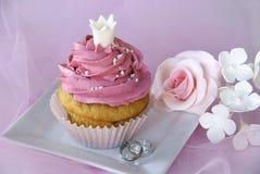 Huwelijk cupcake Stock Afbeelding
