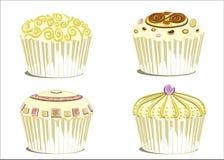 Huwelijk cupcake Royalty-vrije Stock Foto's