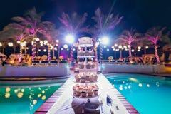 Huwelijk cupcake royalty-vrije stock afbeelding