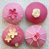 Huwelijk cupcakes Stock Afbeelding