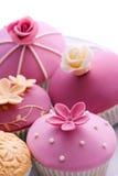 Huwelijk cupcakes Stock Foto