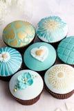 Huwelijk cupcakes Stock Afbeeldingen