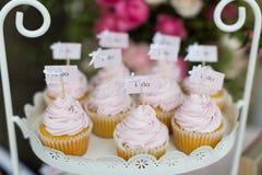 Huwelijk cupcakes Royalty-vrije Stock Afbeeldingen