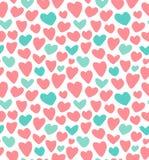 Huwelijk, de dag naadloos patroon van Valentin ` s royalty-vrije illustratie