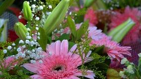 Huwelijk of de Speciale Samenstelling van Dagenbouget van Bloemen stock video
