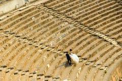 Huwelijk die in Ephesus Izmir schieten stock afbeeldingen