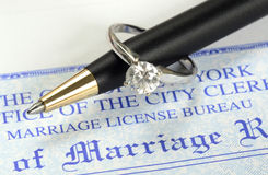 Huwelijk en geld Stock Fotografie
