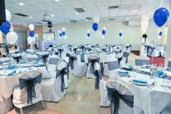 Huwelijk Hall Setup Stock Foto