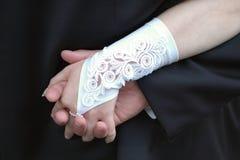Huwelijk hand in hand Royalty-vrije Stock Foto