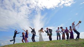 Huwelijk het dansen stock video
