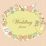 Huwelijk-kader stock illustratie