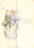 Huwelijk maart Stock Foto