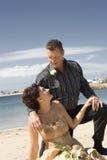 Huwelijk op strand Royalty-vrije Stock Afbeelding