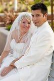Huwelijk in park Royalty-vrije Stock Foto