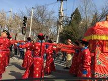 Huwelijk in Peking, China 20 Maart, 2016 Royalty-vrije Stock Fotografie