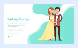 Huwelijk Planning, Regelingspartij Inclusief allen royalty-vrije illustratie