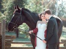 Huwelijk in retro stijl Royalty-vrije Stock Afbeelding