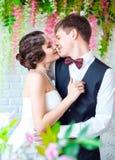 Huwelijk in retro stijl Stock Foto
