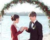 Huwelijk in retro stijl Royalty-vrije Stock Foto