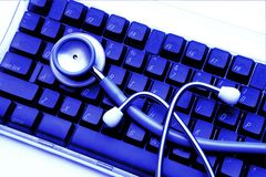 Huwelijk van geneeskunde en technologie Stock Afbeeldingen