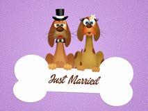 Huwelijk van honden stock illustratie
