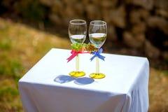 Huwelijk winglasses royalty-vrije stock fotografie