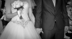 Huwelijk in zwart-wit Stock Foto's